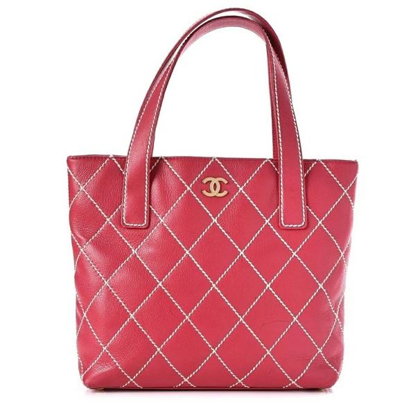 0a342b971df4 CHANEL Handbags - CHANEL Calfskin Stitch Small Tote bag